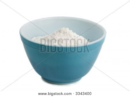 Bowl Filled With Flour