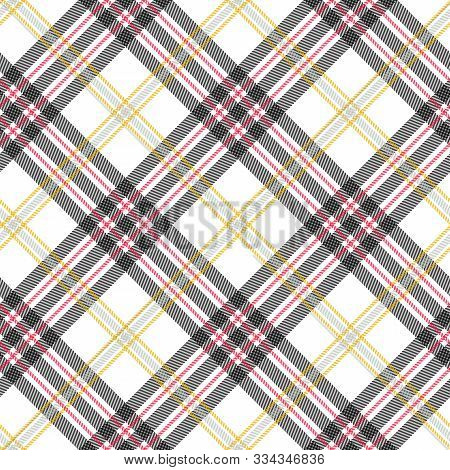 Tartan Seamless Skirt Pattern Background, Vector Illustration