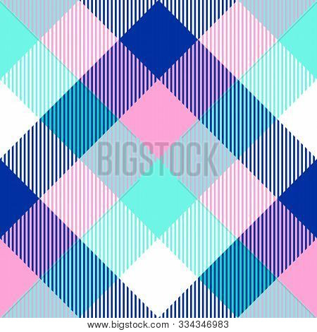 Tartan Seamless Light Pattern Background, Vector Illustration