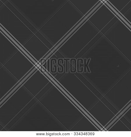 Tartan Seamless Dark Pattern Background, Vector Illustration