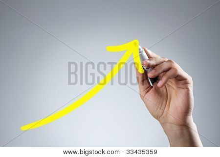 Drawing Yellow Arrow