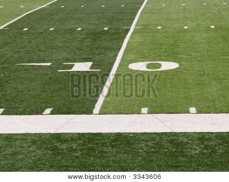 10 Yard Line On Football Field