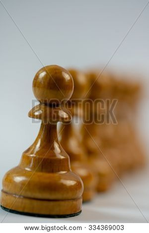 Chess Pieces, Pawns Macro Photography.chess Pieces, Pawns Macro Photography