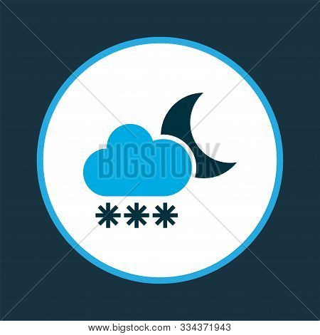 Snowfall Icon Colored Symbol. Premium Quality Isolated Blizzard Element In Trendy Style.