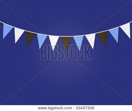 Purple Pennant Flags