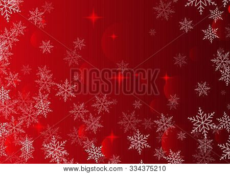 Red Abstract Background With Snowflakes. Perfect For Christmas And New Year Banners, Christmas Card