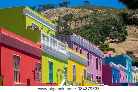 Cape Town, South Africa, January, 1, 2017: Colourful Houses In Bo Kaap, The Malay Quarter Of Cape To