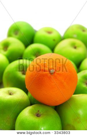 Stand Out From Crowd With Orange And Apples