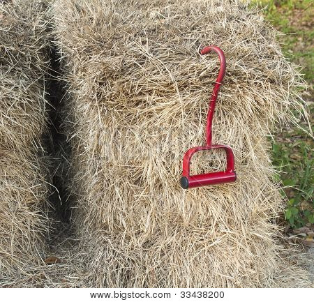 Hay Bales With Lifting Hook