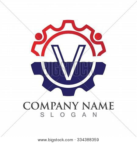 V Letter Logo Or Symbol Creative Template Design