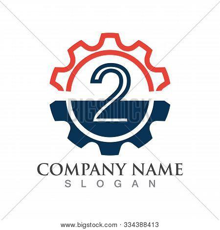 Number 2  Logo Or Symbol Creative Template Design