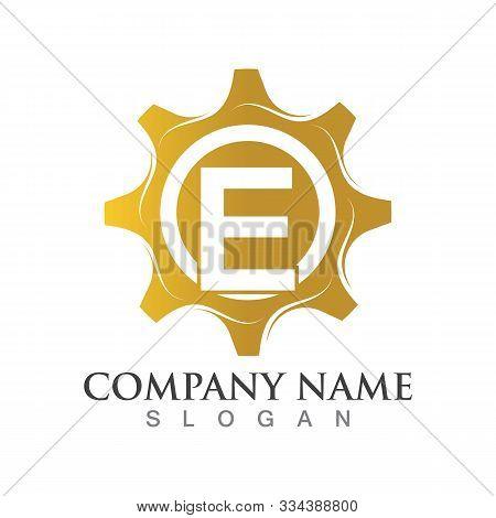 E Letter Logo Or Symbol Creative Gear Template