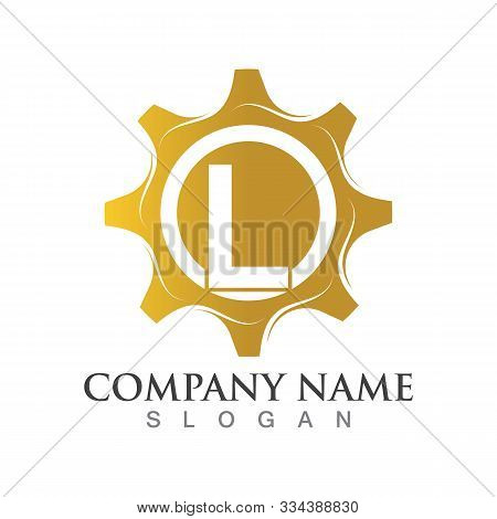 L Letter Logo Or Symbol Creative Gear Template