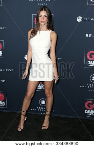 LOS ANGELES - NOV 16:  Emily Ratajkowski at the Go Campaign's 13th Annual Go Gala at the NeueHouse on November 16, 2019 in Los Angeles, CA