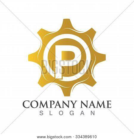 P Letter Logo Or Symbol Creative Gear Template