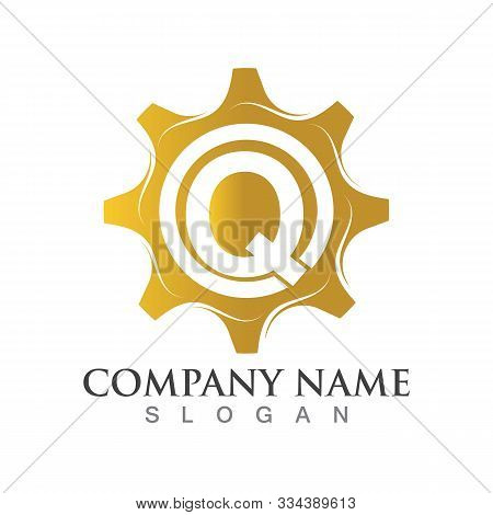 Q Letter Logo Or Symbol Creative Gear Template