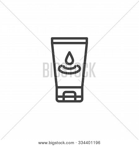 Lubricant Gel Line Icon. Linear Style Sign For Mobile Concept And Web Design. Anal Lubricant Outline