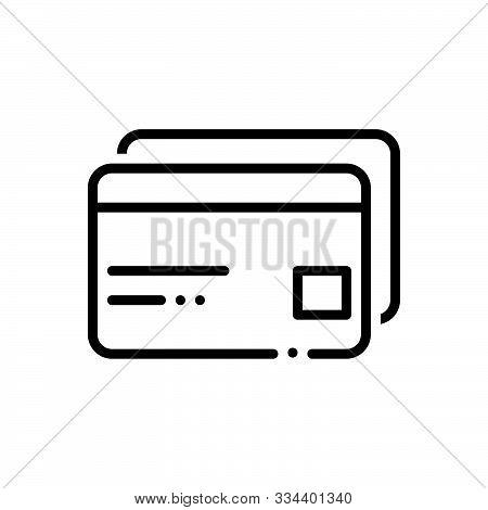 Black Line Icon For  Atm-cards Atm Cards Payment Transaction Credit Debit
