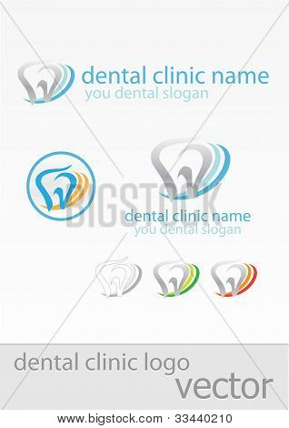Templates of signs for dental clinic
