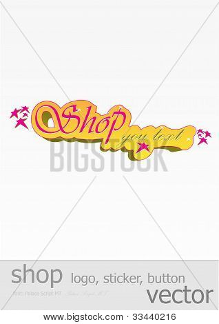 Template of stiker for shop