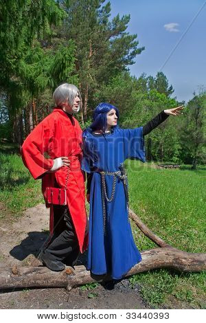 Young Man And Woman Cosplay