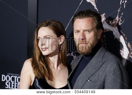 Ewan McGregor and Rebecca Ferguson at the Los Angeles premiere of 'Doctor Sleep' held at the Regency Village Theater in Westwood, USA on October 29, 2019.