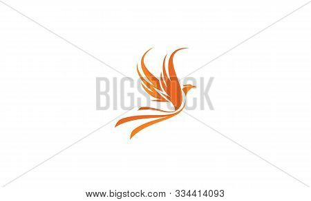 Phoenix Bird Fire Logo Icon Vector Symbol Simple