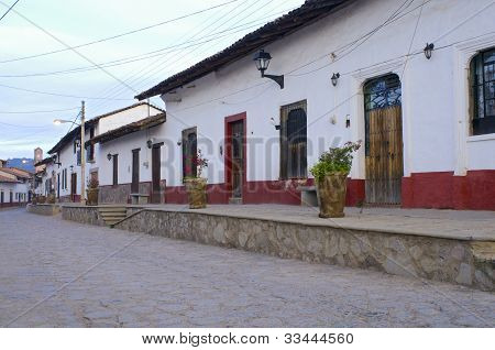 Streets And Homes Of Tapalpa Mexico