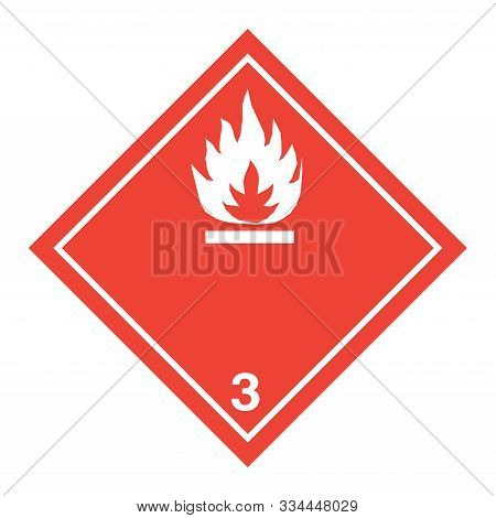 ADR pictogram for flammable liquids with a white background poster