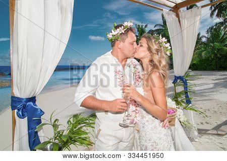 wedding ceremony on a tropical beach