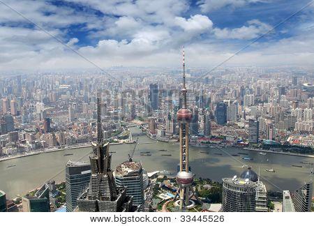 cityscape of Shanghai, China
