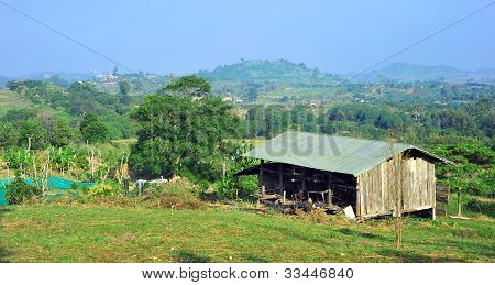 old warehouse for farm in nature