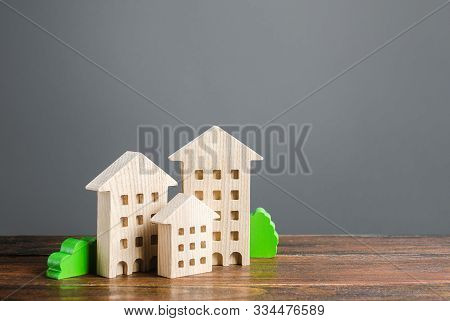 Wooden Houses. Affordable Comfortable Housing. Purchase Of Apartments And Real Estate, Rent And Sale