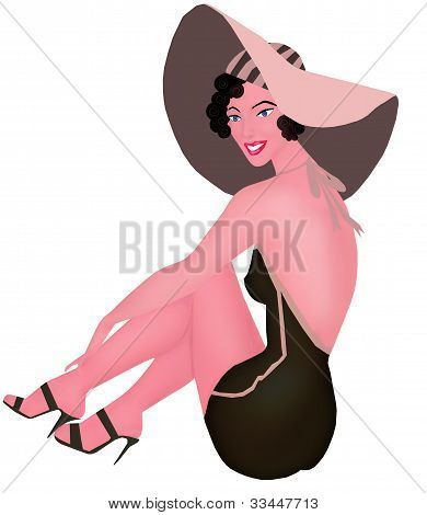 beauty pinup under the sun
