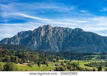 Mount Cornon (2189 M), Peak In The Italian Alps, Val Di Fiemme And Val Di Stava, Cavalese, Trentino