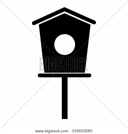 Bird House Icon On White Background. Flat Style. Bird House Icon For Your Web Site Design, Logo, App