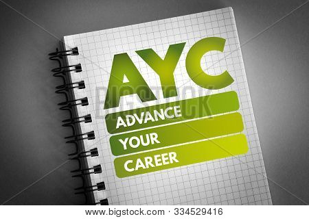 Ayc - Advance Your Career Acronym, Business Concept