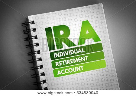 Ira - Individual Retirement Account Acronym, Concept Background