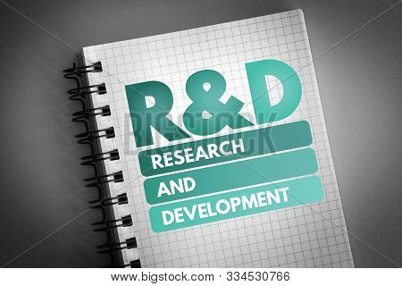 R&d - Research And Development Acronym, Business Concept Background