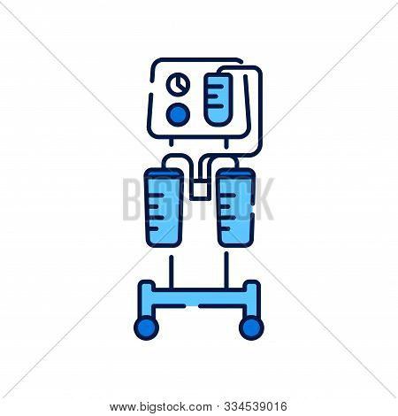 Aspirator Line Color Icon. Medical Suction Pump Concept. Removal Of Fluid From Body Cavities. Cavity