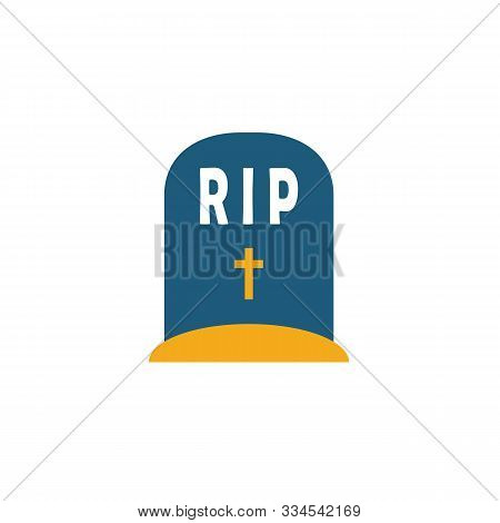 Tombstone Icon. Simple Flat Element From Halloween Collection. Creative Tombstone Icon For Templates