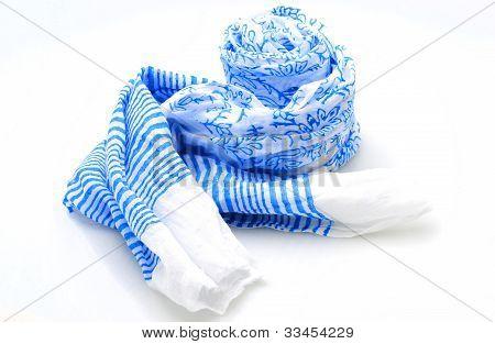 Bufanda del resorte azul y blanco