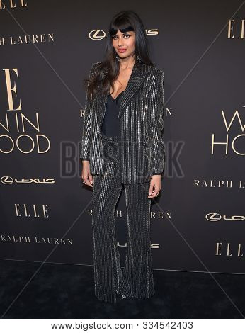 LOS ANGELES - OCT 14:  Jameela Jamil arrives for the ELLE Women in Hollywood on October 14, 2019 in Westwood, CA