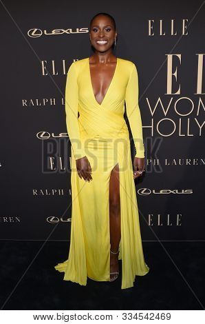 LOS ANGELES - OCT 14:  Issa Rae arrives for the ELLE Women in Hollywood on October 14, 2019 in Westwood, CA