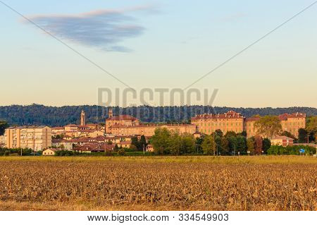 View Of The Municipality Of Agliè, In Piedmont Italy /view Of The Municipality Of Agliè In Piedmont