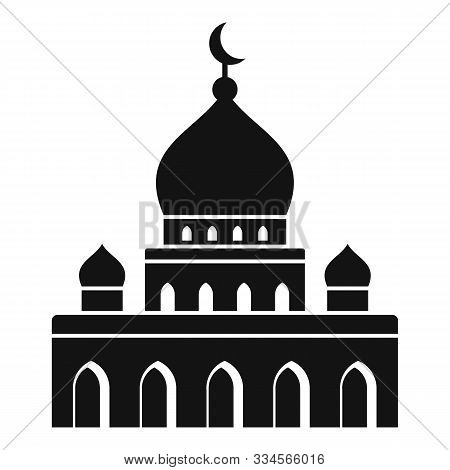 Islam Mosque Icon. Simple Illustration Of Islam Mosque Vector Icon For Web Design Isolated On White