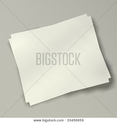 3 Blank Note On White Background
