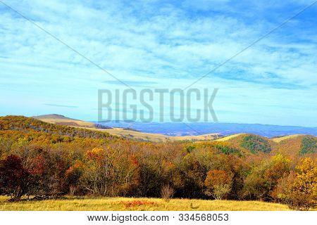 Landscape In The Old Mining Railway Anina-oravita, In Banat, Transylvani, Romania, In A Sunny Day In