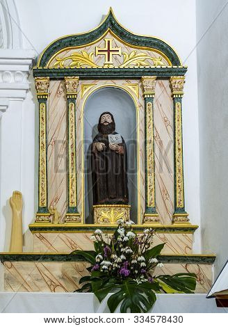 Lousa, Portugal - August 22, 2019: Side Chapel Dedicated To Saint Paio (or Saint Pelagius), In The S