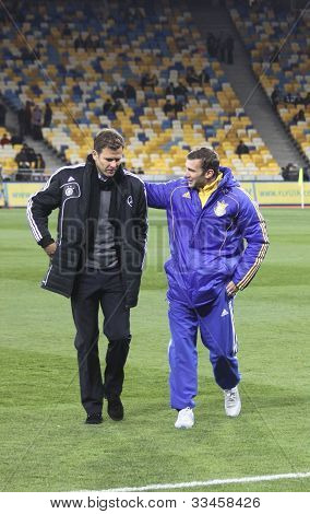 Oliver Bierhoff And Andriy Shevchenko